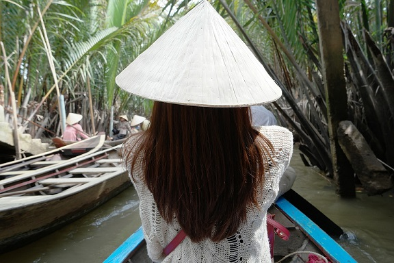 Back of Vietnamese Woman