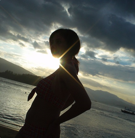 Filipina in Sunset