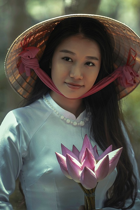 Vietnamese Girl in Hat